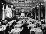 Dining Room of the Waldorf-Astoria Hotel, New York Photographic Print