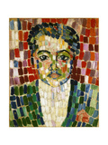 Portrait of Jean Metzinger Giclee Print by Robert Delaunay