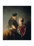 A Young Scholar and His Tutor Giclee Print by  Rembrandt van Rijn