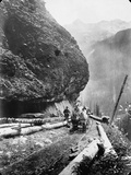 Gold Miners Near Ouray, Colorado Photographic Print