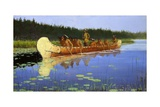 Radisson and Groseilliers Giclee Print by Frederic Sackrider Remington