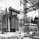 General Electric Power Transformers Photographic Print