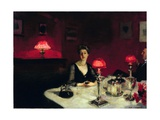 A Dinner Table at Night Giclee Print by John Singer Sargent