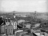 Lower East Side Neighborhood and Brooklyn Bridge Photographic Print by J.S. Johnston