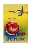 Qantas Empire Airways Poster Giclee Print