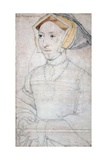 Portrait of Queen Jane Seymour Reproduction procédé giclée par Hans Holbein the Younger