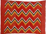 A Navajo Transitional Wedgeweave Blanket Photographic Print