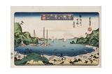 Returning Ships, Kanazawa Giclee Print by Utagawa Toyokuni II