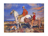 Hilda and Mary at Studland Bay, Dorset Giclee Print by George Spencer Watson