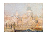 St. Paul's from the River: Morning Sun in Winter Gicléetryck av Henri Le Sidaner