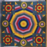 A Mennonite Pieced and Appliqued Cotton Quilted Coverlet Photographic Print