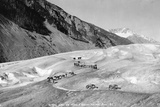 Horses Packing Silver Ore across Glacier Photographic Print by H.H. Ives
