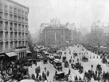 Broadway at Madison Square Park in New York City, 1893 Stampa fotografica