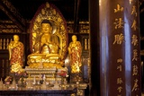 Buddha Statue in Temple Photographic Print by Paul Souders