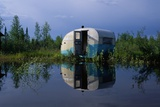 Flooded Trailer Near Alaska Highway Photographic Print by Paul Souders
