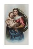 Lithograph of Raphael's Sistine Madonna Giclee Print