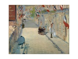The Rue Mosnier with Flags Giclee Print by Édouard Manet