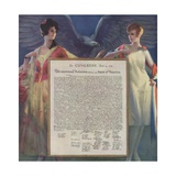 Lovely Ladies Guarding Declaration of Independence Giclee Print