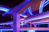 Neon-Lit Overpasses Photographic Print by Paul Souders