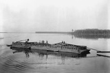 Flatboat on the Mississippi River Photographic Print