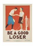 1938 Character Culture Citizenship Guide Poster, Be a Good Loser Gicleetryck