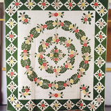 A Pieced and Appliqued Cotton Quilted Coverlet Photographic Print