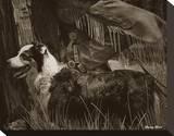 Cowboy's Friend Reproduction transférée sur toile par Barry Hart