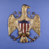 A Gilded Pressed Tin Eagle Photographic Print