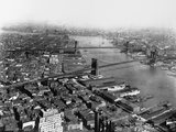 Bridges on the East River, New York Photographic Print by Irving Underhill