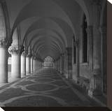 Cloister Stretched Canvas Print by Tom Artin
