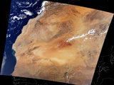 Canary Islands and the Sahara Desert of Africa Photographic Print