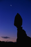 Silhouette of Balanced Rock at Sunrise Photographic Print by Paul Souders