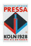 German Poster for Cologne Press Exhibition, 1928 Giclee Print