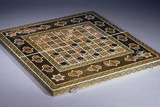 A Mosaic Work (Khatamkar) Backgammon and Draughts Set Photographic Print