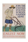 World War I Poster for Gardening Giclee Print