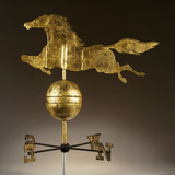 A Gilded Sheet Iron Weathervane in the Form of a Galloping Horse Photographic Print