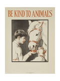 1939 Be Kind to Animals, American Civics Poster, Horse Stall Reproduction procédé giclée