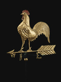 Feathered Rooster and Arrow Weathervane Photographic Print