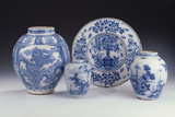 A Selection of Frankfurt Blue and White Ceramics in a Chinese Style, Circa 1680-1690 Photographic Print