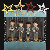 A Rare Set of Large Bobb'N Head Beatles Character Dolls Reproduction photographique