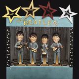 A Rare Set of Large Bobb'N Head Beatles Character Dolls Fotoprint