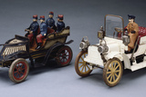 A Cigarette Tinplate Two-Seat Runabout with a Gunthermann Military Vauxhall Scuttle-Nose Tourer Photographic Print