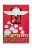 Russian Poster with Parachutes Giclee Print