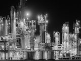 Hydro-Carbon Refinery at Night Photographic Print by Charles Rotkin