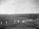 Custer's Battlefield Cemetery Photographic Print by H.R. Locke