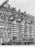 Volt Arresters at Electric Company Photographic Print
