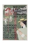Western Lawn Tennis Tournament Kenwood Country Club Poster Giclee Print