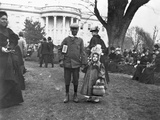 Children Holding Hands at White House Easter Egg Roll Photographic Print by Frances Benjamin Johnston
