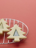 Christmas Cookies on a Cooling Rack Photographic Print by Patrick Norman