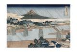 Kintai Bridge, Suo Province Giclee Print by Katsushika Hokusai